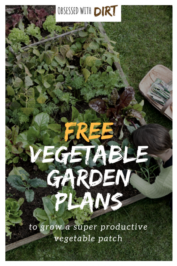 Four super easy vegetable garden layouts. There's one for every size garden with very clear instructions and a free vegetable garden planting plan too! If you're a beginner gardener looking for easy to follow garden layouts and plans then read and share this. #thehappygardeninglife #mygarden #epicgardening #growsomethinggreen