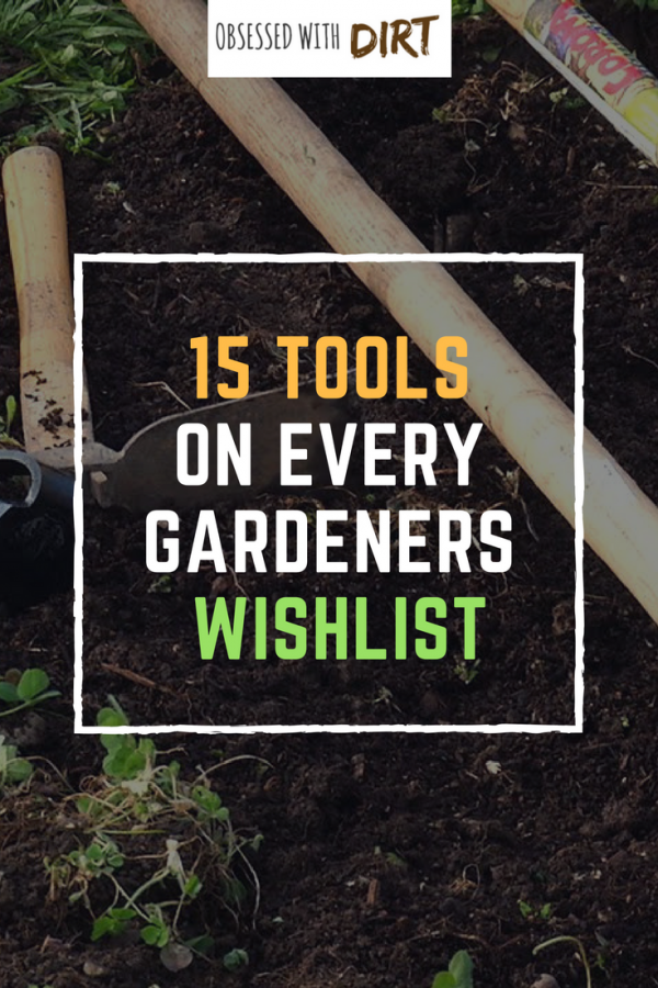 Tired of back breaking gardening chores? Then make sure you check out this essential gardening tool list for small organic gardens. Having the right gardening tools can save you hours of work and they'll make working in your garden a breeze! Save the pin and share it with fellow gardeners.