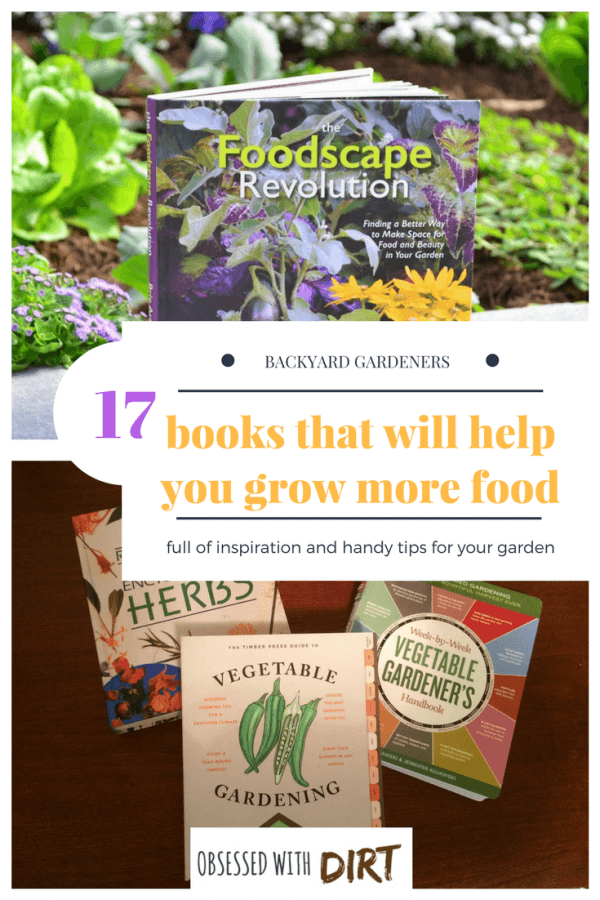This collection of 17 best vegetable gardening books are sure to help you on your way to becoming a successful gardener. These vegetable gardening books will help you grow more food in your garden this season and give you plenty of inspiration and tips. #growyourown #growsomethinggreen #thehappygardeninglife #homegarden