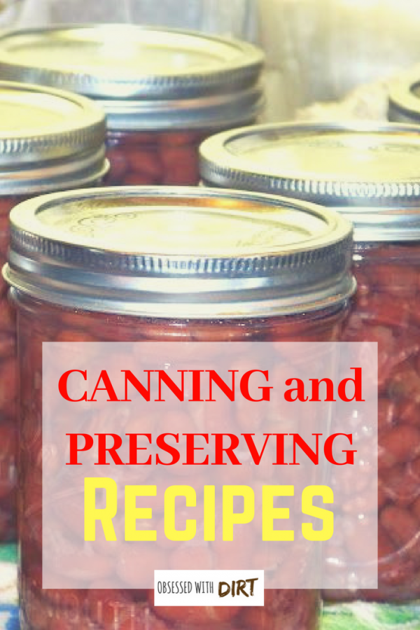 canning and preserving vegetable recipes